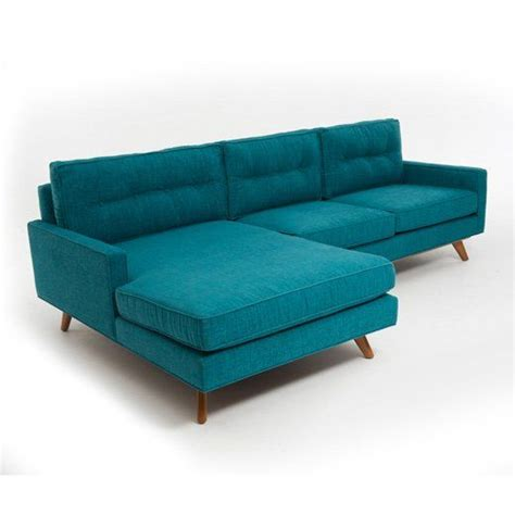 turquoise blue sectional sofa mid century sectional sofa in blue see more inspirations