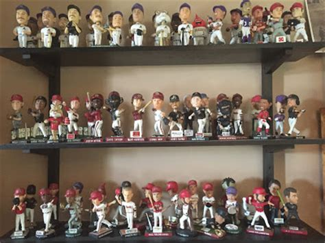 bobblehead collections it s like my own card shop it s finished my