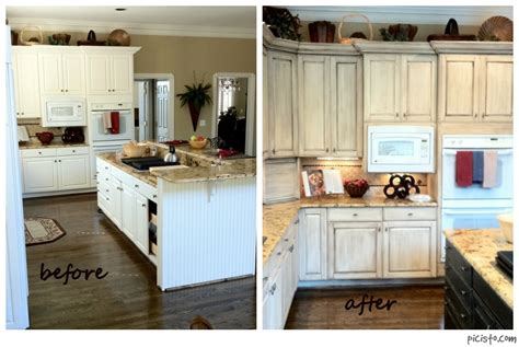 Before And After Melamine Kitchen Cabinets Painted Cabinets Nashville Tn Before And After Photos