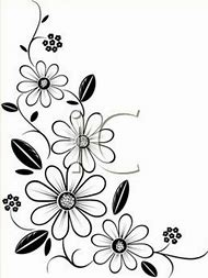 Best 25 ideas about flower border coloring pages find what youll free flower border clip art black and white mightylinksfo