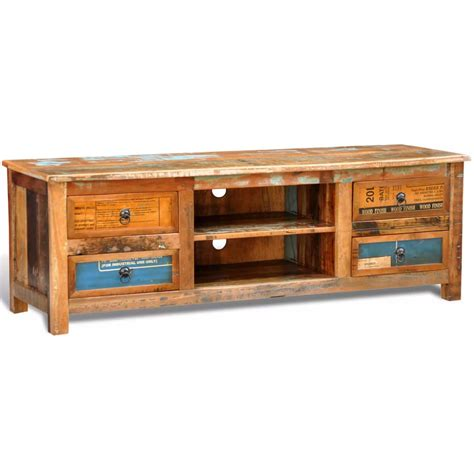 reclaimed wood tv cabinet vidaxl co uk reclaimed wood tv cabinet tv stand 4 drawers