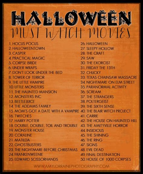 movie themes names a list of movies for your halloween viewing pleasure