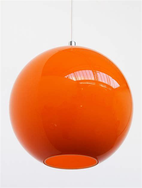 Vintag Orange Glass Lamp Shade Retro 1960 S