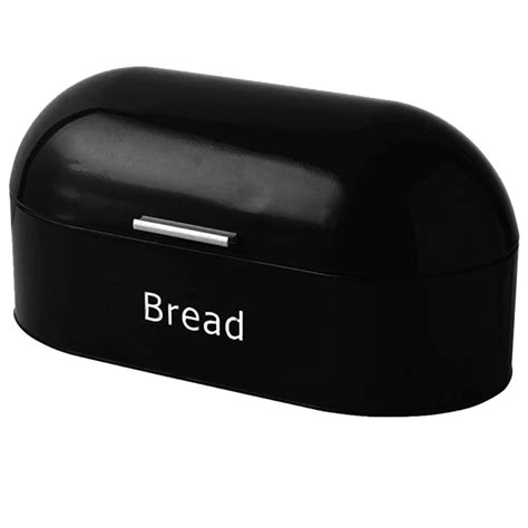 retro bread bin steel kitchen top storage roll loaf box