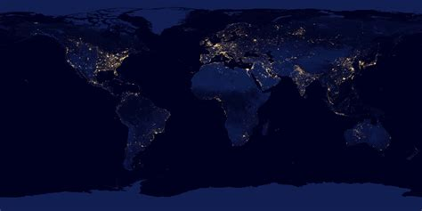 Map Lights by The Black Marble The Entirety Of Human Civilization As