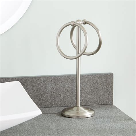 bathroom countertop towel stand drummond countertop towel ring towel holders bathroom