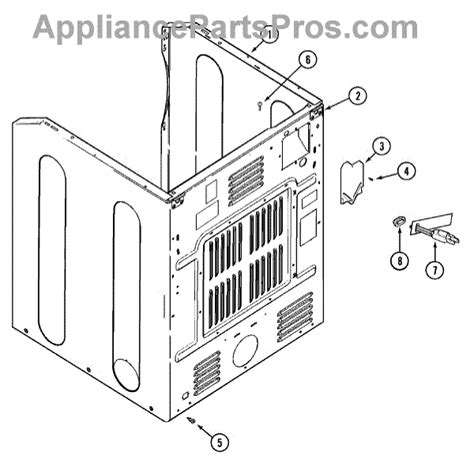 admiral dryer parts diagram parts for admiral mug15mnagw cabinet rear parts