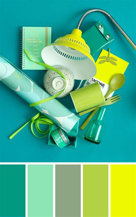 happy green color color combination in blue green and yellow by 101