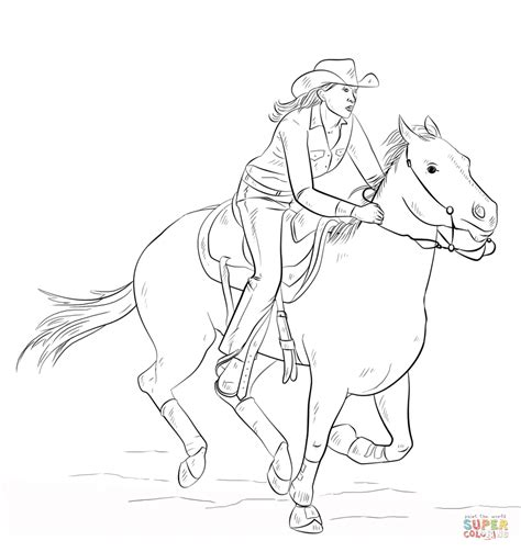 coloring pages of cowgirls and horses coloring page free printable coloring pages