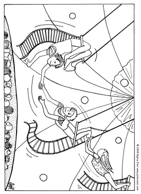 circus themed coloring pages coloring home
