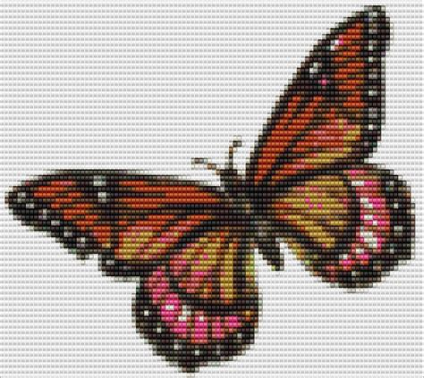 bead pictures patterns monarch butterfly bead pattern