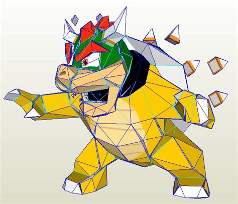Bowser Papercraft - bowser papercraft by nin mario64 on deviantart
