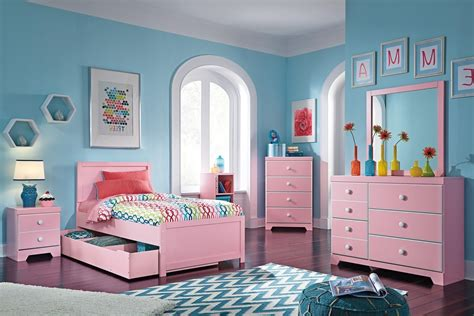Tempat Tidur Napoli Frozen kamar tidur anak perempuan set lengkap warna pink