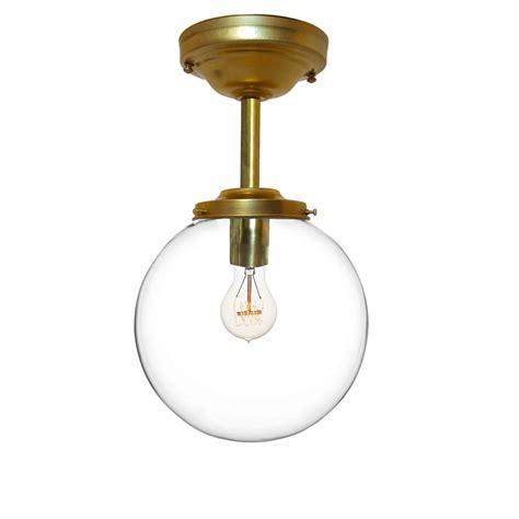 custom glass pendant lights custom 8 quot clear blown glass globe downrod pendant light