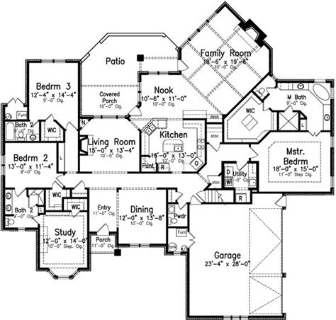 3 bedroom house plans one story 1000 ideas about 3 bedroom house on pinterest house