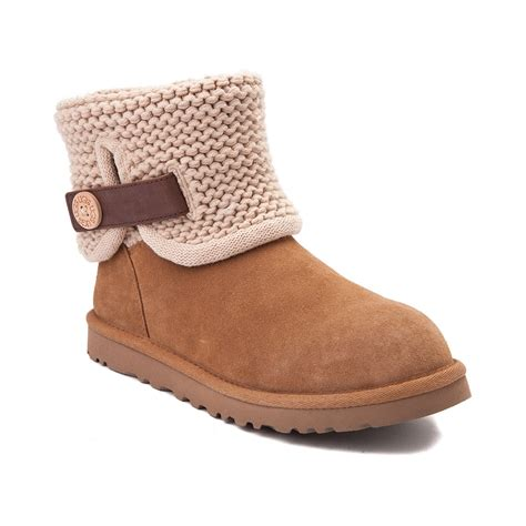 womans ugg boots womens ugg 174 shaina knit boot brown 581644