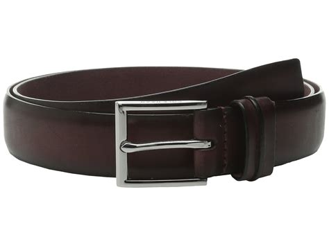 cole haan 32mm burnished leather harness buckle belt in