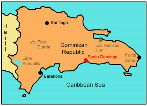 printable map dominican republic dominican republic for kids