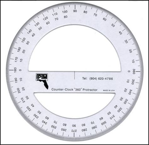 Usf St Pete Mba Schedule by Iptm 360 Degree Counter Clockwise Protractor Templates
