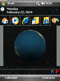 earth for windows mobile spinnng earth animated theme windows mobile phone pocket