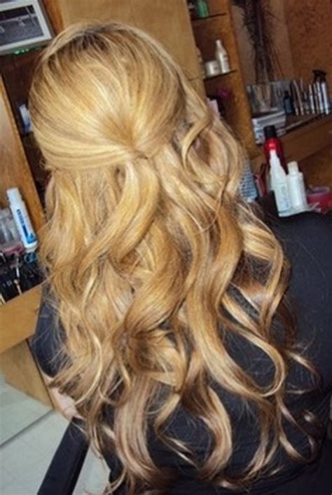 homecoming hairstyles for long hair half up half up prom hairstyles