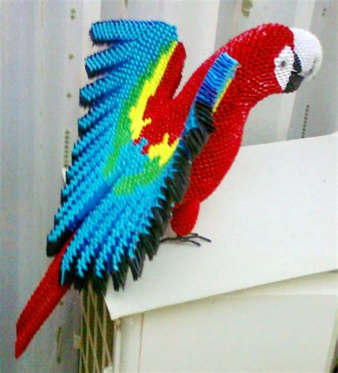 3d origami macaw macaw album mohammad nofal 3d origami
