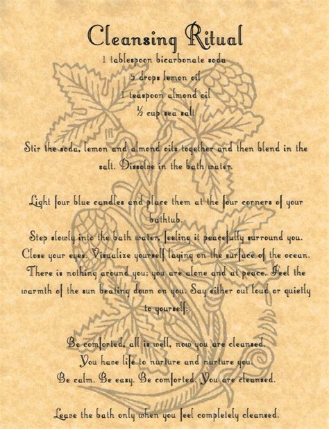 Spell Hematite cleansing ritual book of shadows page bos pages