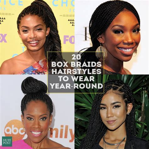 Pics Of Styles You Cab Wear With Braids With Thinning Edges | 20 badass box braids hairstyles that you can wear year