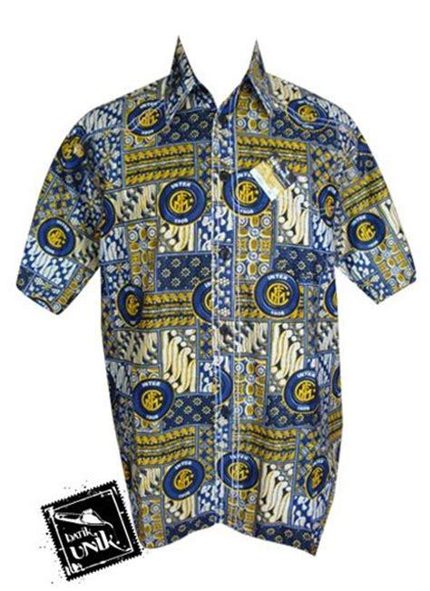 Baju Batik Inter Milan baju batik kemeja smok motif batik bola real madrid kemeja pendek murah batikunik