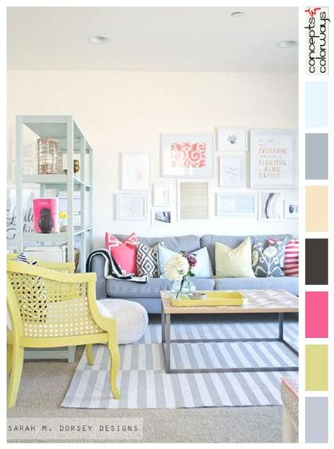 bright dash of wall color in an eclectic living room 17 best images about palettes by project on pinterest