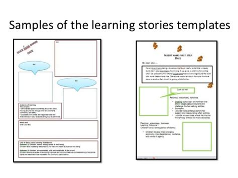 eylf programming templates eylf learning stories template 5