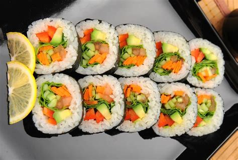 Sushi Kitchen Vegetarian Japanese Food Vegetarian Sushi From The Grapevine