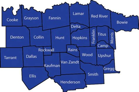 map of northeast texas counties image gallery texas counties