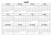 Calendar 2018 Printable Yearly 2018 Calendar Templates 2018 Monthly Yearly