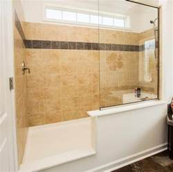 walk in showers no doors with glass wall and tile for