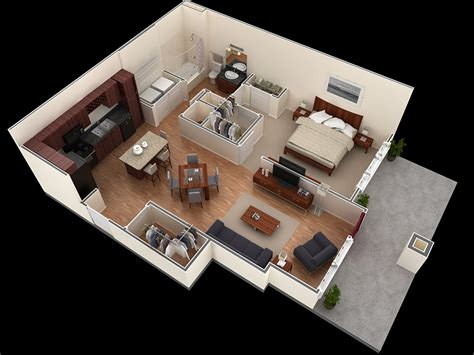 on bad room 25 one bedroom house apartment plans