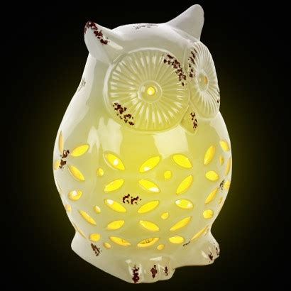 wise and wired owl l night light home decor silhouette owl garden l
