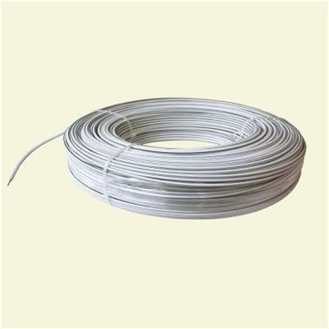 and white electrical wires white lightning 1320 ft 12 5 white safety coated