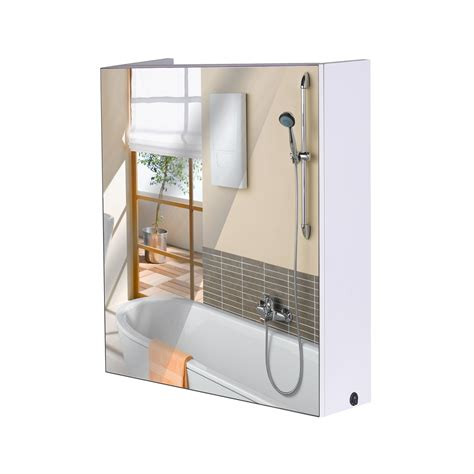 clearance bathroom mirrors homcom 24 led single door bathroom mirror medicine