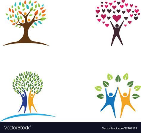 Family Tree Logo Design Template Royalty Free Vector Image Vector Image Template Family Tree