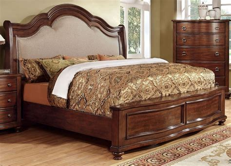 cherry king bed bellavista brown cherry king bed from furniture of america