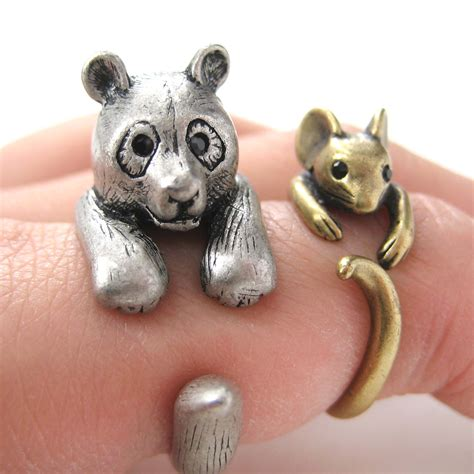 Zebe Piyama Panda Edition Size 12 3d panda ring in silver sizes 5 to 10 available 183 dotoly animal jewelry 183 the animal wrap