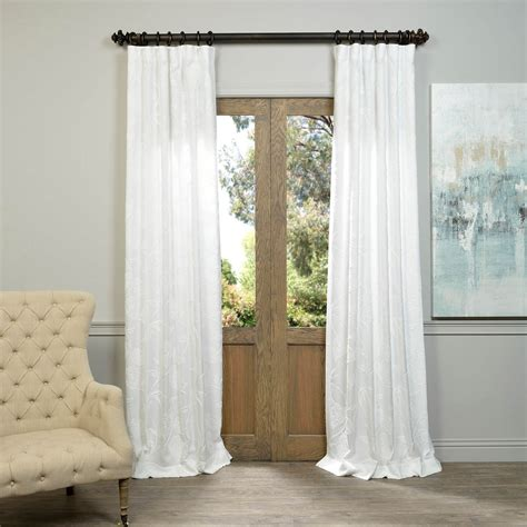 crewel curtains half price drapes plume navy embroidered crewel faux linen