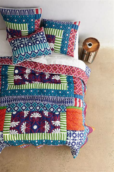 Anthropologie Hothouse Quilt by 198 Nip Anthropologie Lille Quilt Navy Comforter