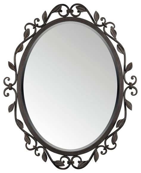 Quoizel derbyshire collection oval 30 quot high wall mirror traditional