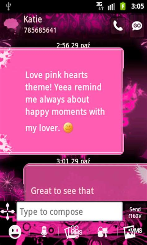 go sms pro pink sweet theme apk go sms pro theme pink apk for free on getjar