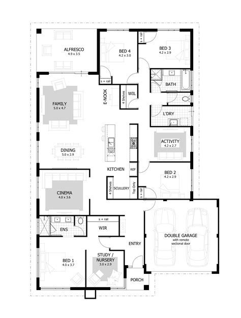 House Plans With 4 Bedrooms by 4 Bedroom House Plans Home Designs Celebration Homes