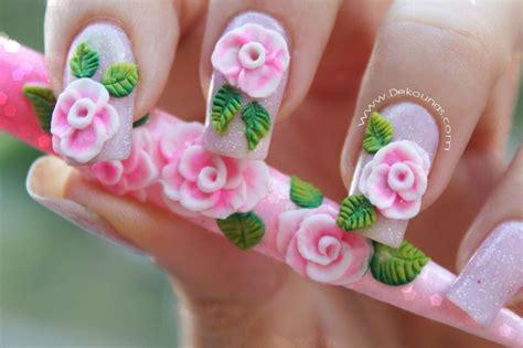 imagenes de uñas decoradas en tercera dimension decoraci 243 n rosas 3d en acr 237 lico deko u 209 as moda en tus u 241 as