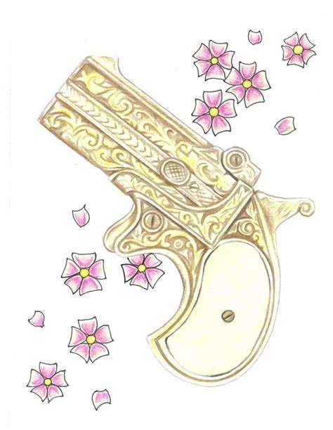 antique derringer pistol by tattoosavage on deviantart
