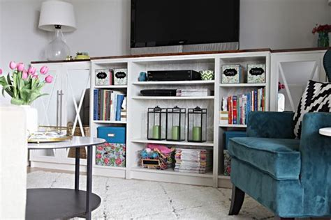 Billy Bookcase Built In With Doors 39 Best Images About Home Living Room Organization Decor On Pinterest Fireplaces Living